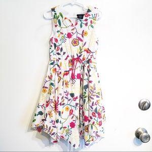 Cynthia Rowley Handkerchief Hem Floral Print Dress